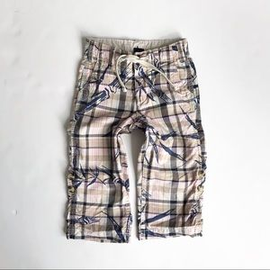 BABygap pink/blue casual roll up pants EUC 2T